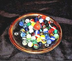 Marbles in a Custard Dish with 1 Shooter AA18 - 1174-C 50 Vintage image 4