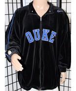 VINTAGE NIKE DUKE BLUE DEVILS Fleece Zip Black Jacket Coat Size XXLT Tal... - $47.40