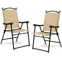Portable Folding Chair Set of 2 Yard Lawn Camping Beach Outdoor Patio Fu... - $74.24