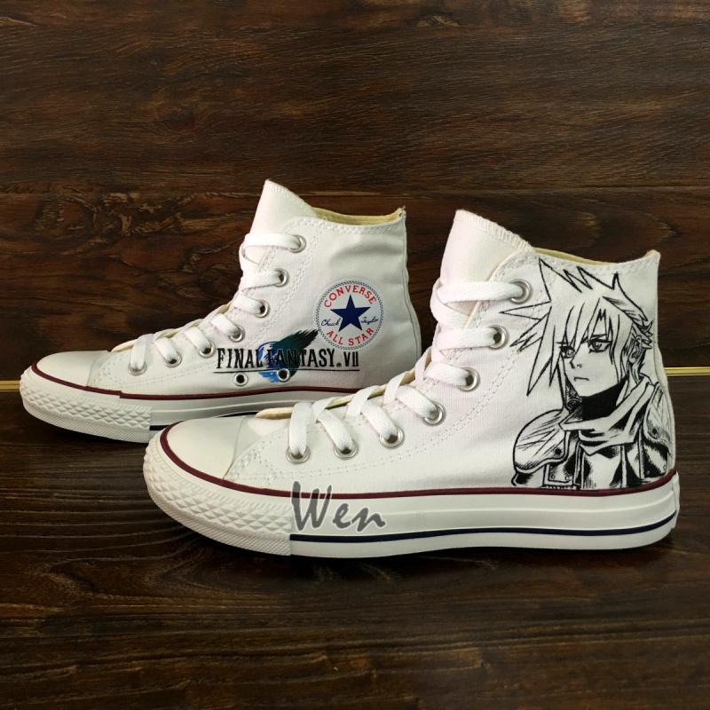 Hand Painted Converse Shoes Final Fantasy Design Sneakers Men Women Canvas Shoes