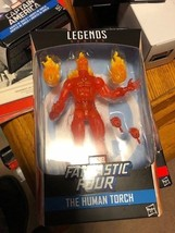 THE HUMAN TORCH MARVEL LEGENDS JOHNNY STORM FANTASTIC FOUR HASBRO ACTION... - $39.59