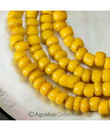 "23.66"" Rare Antique Yellow Tribal Trade Glass Bead Strand Western-Papua ... - $38.75"