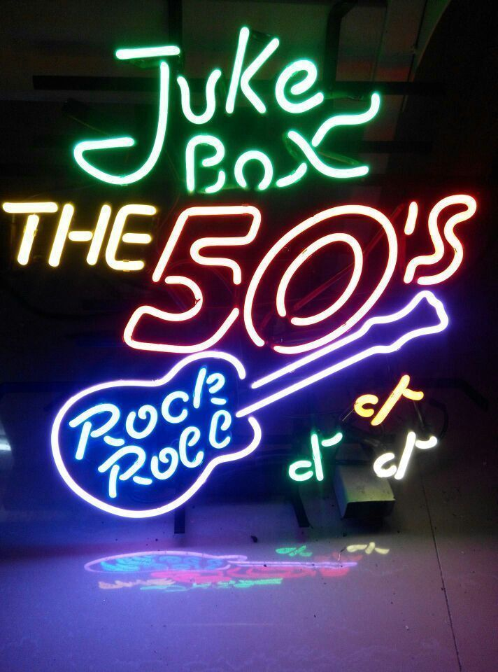 "New Juke Box The 50'S Rock Roll Guitar Neon Sign 24""x20"" Ship From USA"