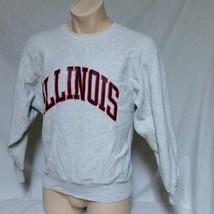 VTG Champion Reverse Weave Sweatshirt Illinois Fighting Illini 80s Colle... - $49.99