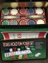 Texas Hold'em Poker Set w/Chip Holder Rack Cardinal Opened Unused Sealed Parts - $24.65