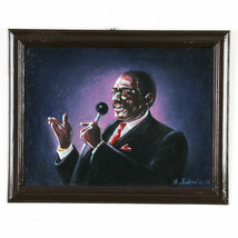 """Singing the Blues"" By Anthony Sidoni 2005 Signed Oil Painting 14 3/4""x1... - $277.20"