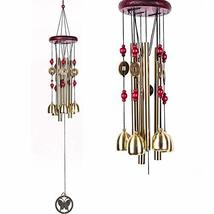 Banday Collections Metal Wind Chime 10 Bells with Metal Coin Wind Chimes... - $19.59