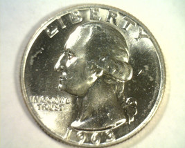 1963-D WASHINGTON QUARTER CHOICE UNCIRCULATED+ CH. UNC.+ NICE ORIGINAL COIN - $11.00
