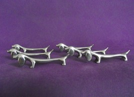 Super Set of 6 Vintage French Silver Color Metal Dachshund Dog Cutlery R... - $37.99