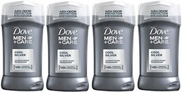 Dove Men+Care Cool Silver Deodorant, 3.0 Ounces Pack of 4