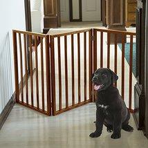 PETMAKER Freestanding Wooden Pet Gate Mahogany ... - $44.67