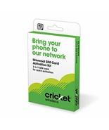 Cricket Wireless Prepaid Universal SIM Card Kit - $7.85