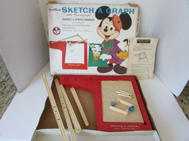 VTG 1955 OHIO ART CO SKETCH A GRAPH WITH PANTOGRAPH #503 INCOMPLETE DISNEY - $14.69