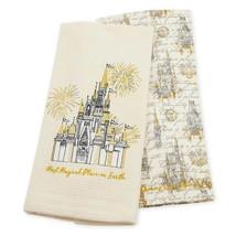 Disney Parks Fantasyland Castle Dish Towel Set New with Tags - $25.86