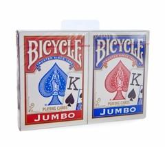 2 Decks Bicycle Rider Back 808 Poker Jumbo Index Playing Cards Red & Blu... - $8.19
