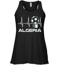 Algeria Soccer Jersey Flowy Racerback Tank  Algerian Flag Heartbeat Gift - $26.95+