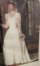 Vogue Sewing Pattern Bride Bridal Original Wedding Dress Gown Petticoat Size 14 - $9.49