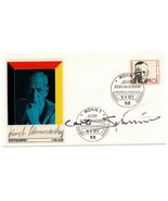 Germany FDC w/  Autograph : Carlo Schmid Social Democratic Party of Germ... - $25.00