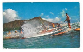 Hawaii HI Outriggers Surfboards Ocean Diamond Head Vintage Mike Roberts ... - $3.99