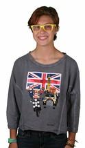 Paul Frank Julius In Britain Grey Dolman Top Size: L