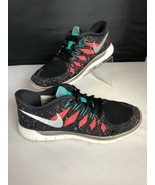 NIKE FREE 5.0 Running Gym Fitness Shoes Black Hyper Jade Galaxy Womens S... - $34.65