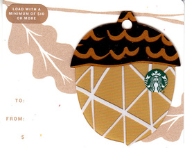 Starbucks 2018 Fall Acorn Brown Collectible Gift Card New No Value - $1.99
