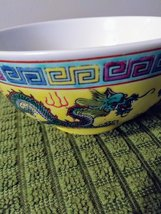 Vintage Chinese Porcelain Bowl,Oriental Decor, Hand Pained Dragon Phoenix ,Asian image 2