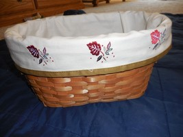 New Oval Basket Fall Halloween Harvest Changeable Liners Thanksgiving - $8.88