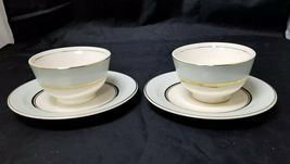 The French Saxon China Co Tea Cup & Saucer Set of 2, 22kt Gold, Pottery Made USA image 7