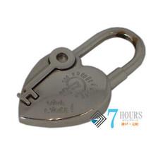 HERMES 2004 Fantasy Heart Cadena Silver Keychain  - $336.60