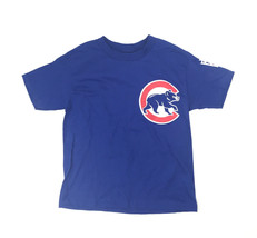New Majestic Replica MLB Chicago Cubs Button T-Shirt Youth S/M/L Blue 0181 - $8.49