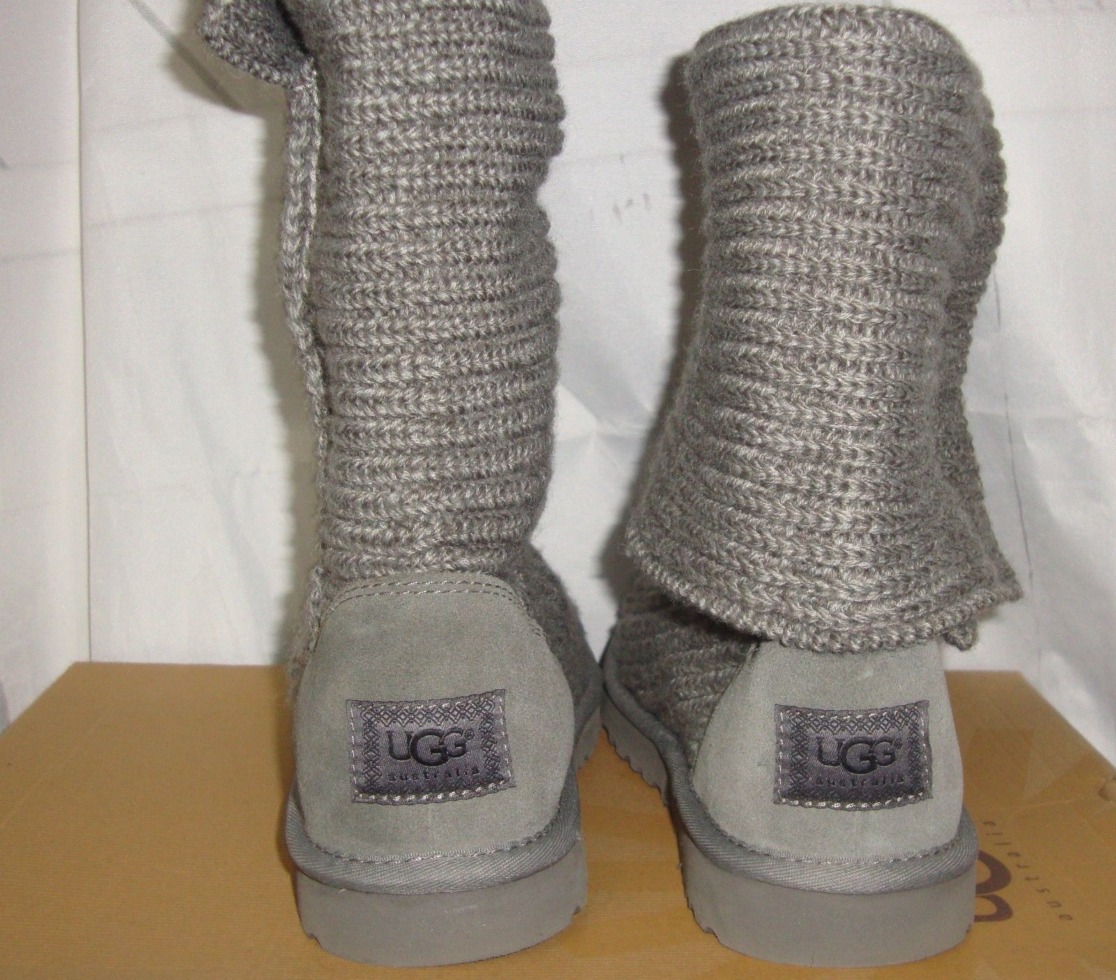 40d205a7857 UGG Australia Grey Gray Classic Cardy Knit and similar items