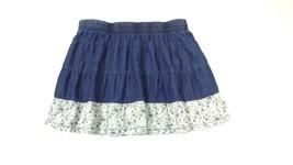 Dollhouse Pre Teen Girls beautiful Floral & Denim Jean Skirt Size L Large  - $17.10