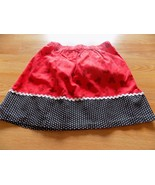 Girls Size 7-8 Homemade Disney Mickey Mouse Print Red Black Skirt Above ... - $14.00