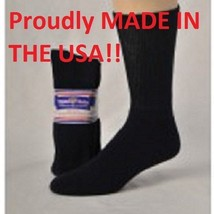 BLACK DIABETIC CREW SOCKS  PHYSICIANS CHOICE, SIZE 9-11 - 3 TO 12 Pair ... - $7.91+
