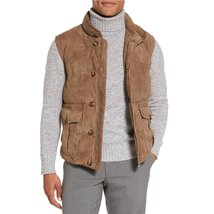 Trendy Style Suede leather vest