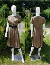 Vintage 1970s liz claiborne Silk Scarf Print Midi pin up secretar dress ... - $39.60