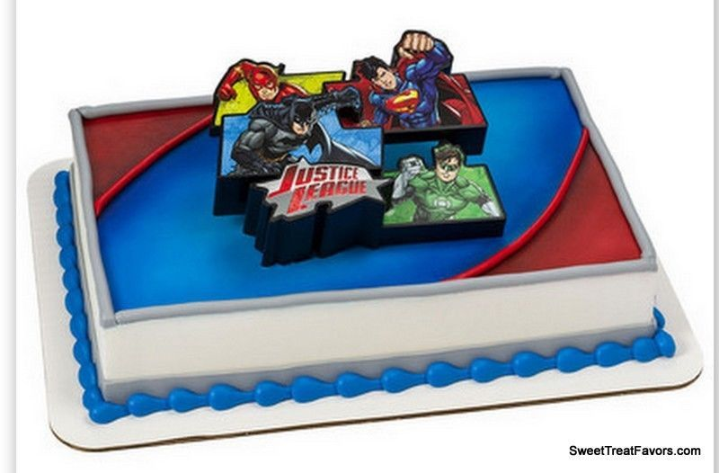 Justice League BIRTHDAY Party Supplies Cake Topper Cupcake Iron Man Superman NEW