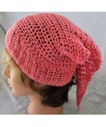 Coral Do-Rag Headband Scarf  Crochet Hand Crafted - $16.95