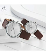 SK® Watches Men Women Fashion Lovers Couple Watches Leather Band Strap W... - $29.79+
