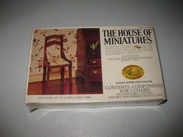 House of Miniatures #40007 Side Chair Set of 2  X-ACTO - New Sealed - $23.75