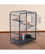 Indoor Portable Pet Habitat Cage Kit With Mesh Shelves Ramps Small Anima... - $125.65