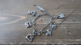 Vintage High Intensity Charm Bracelet 7 inches - $12.86