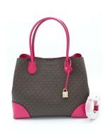 NWT MICHAEL Michael Kors Mercer Gallery Brown Pink Signature Center Zip ... - $198.00
