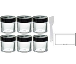 Clear Thick Wall Acrylic Travel Refillable Pot Container Jar - 2 oz / 60... - $15.78