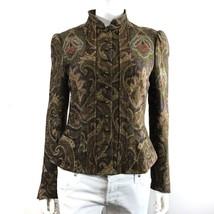 Ralph Lauren Black Label $1,895 • SIZE 6 • Haute Paisley Velvet Blazer J... - $188.10