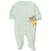 NEW Girls Carters Newborn 6 Months Sleep and Play Sleeper Fleece Warm Cozy - $7.99