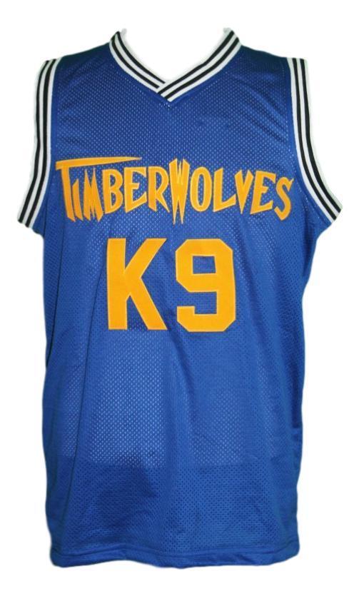 Air bud k9 timberwolves basketball jersey blue   1