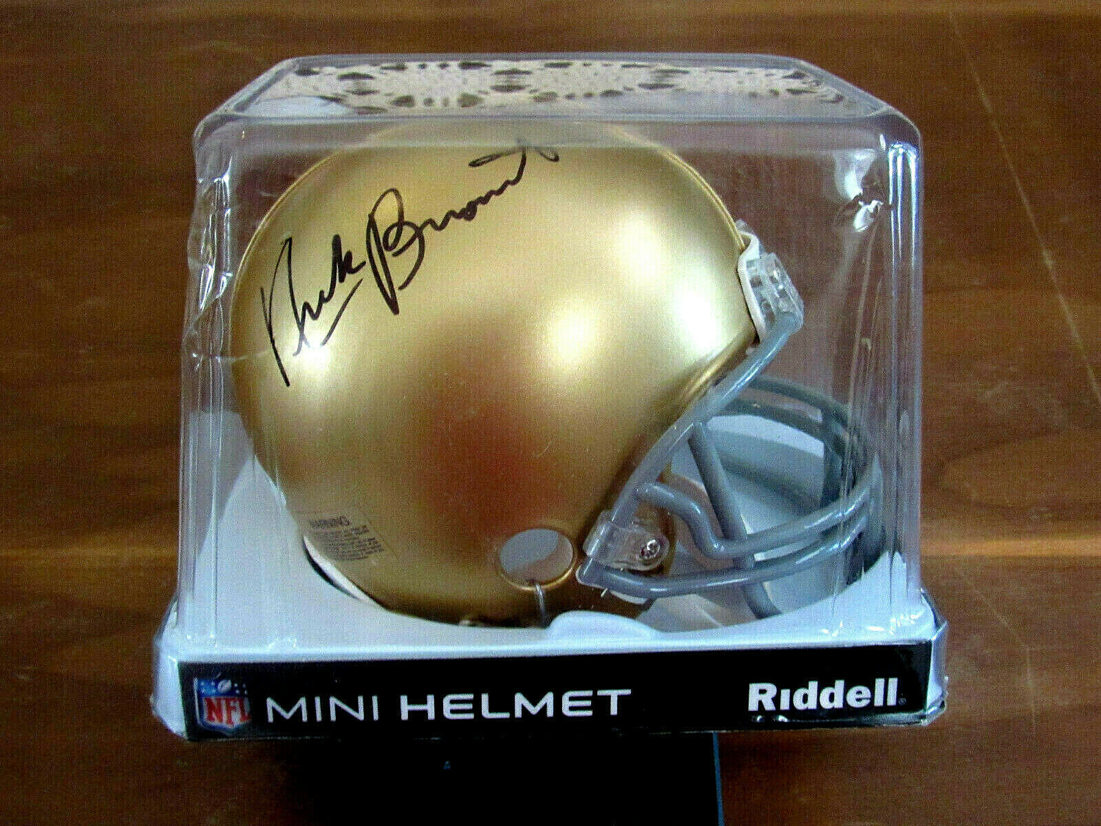 Primary image for NICK BUONICONTI NOTRE DAME IRISH HOF SBC SIGNED AUTO MINI RIDDELL HELMET PSA