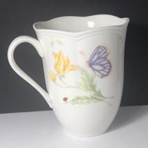 LENOX BUTTERFLY CUP MUG porcelain fine bone china Fritillary ladybug bum... - $29.65
